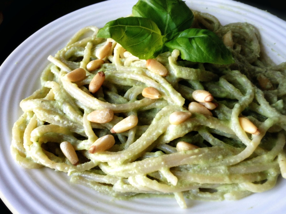 Lemon Basil Cashew Cream Pasta