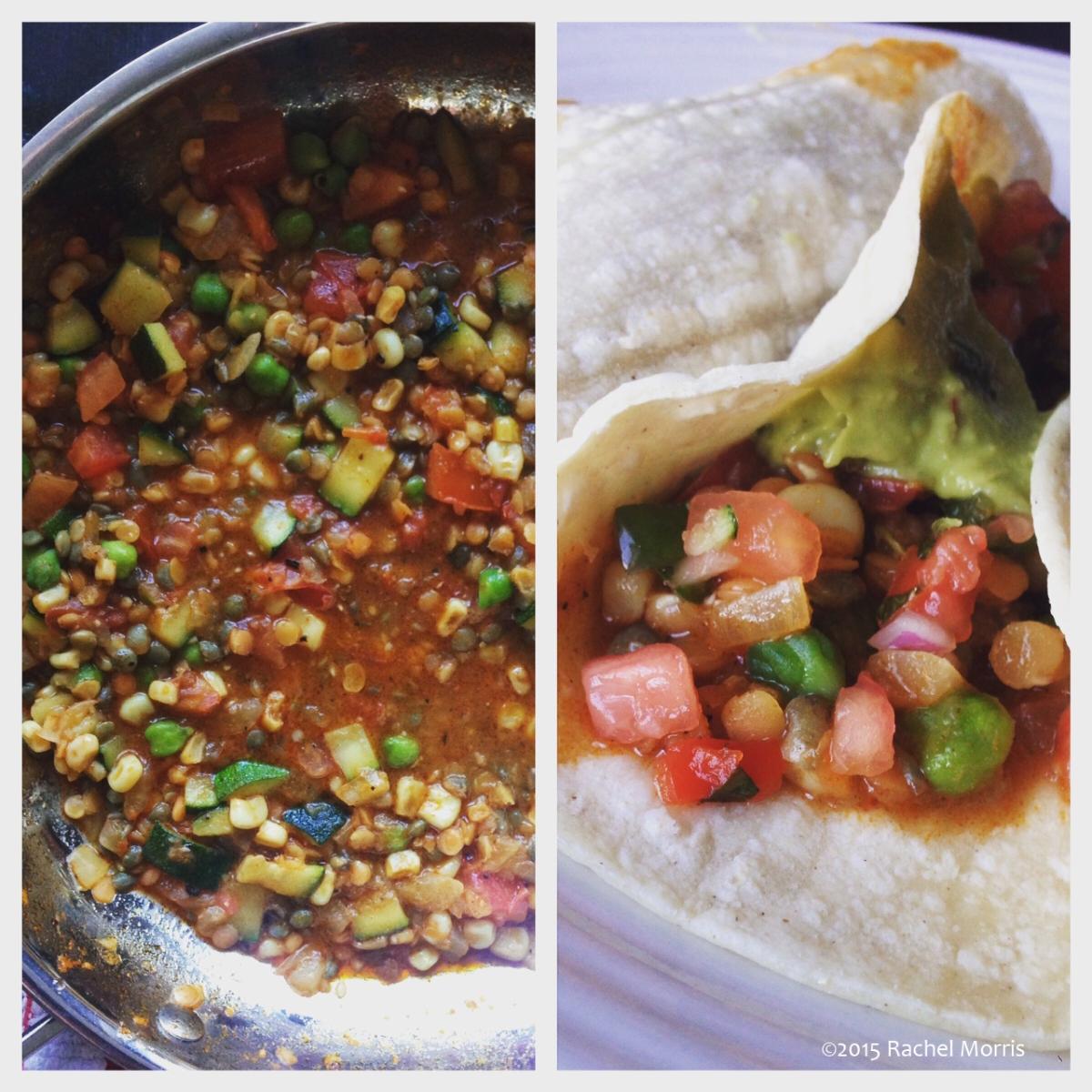Summer Vegetable & Lentil TacoFilling