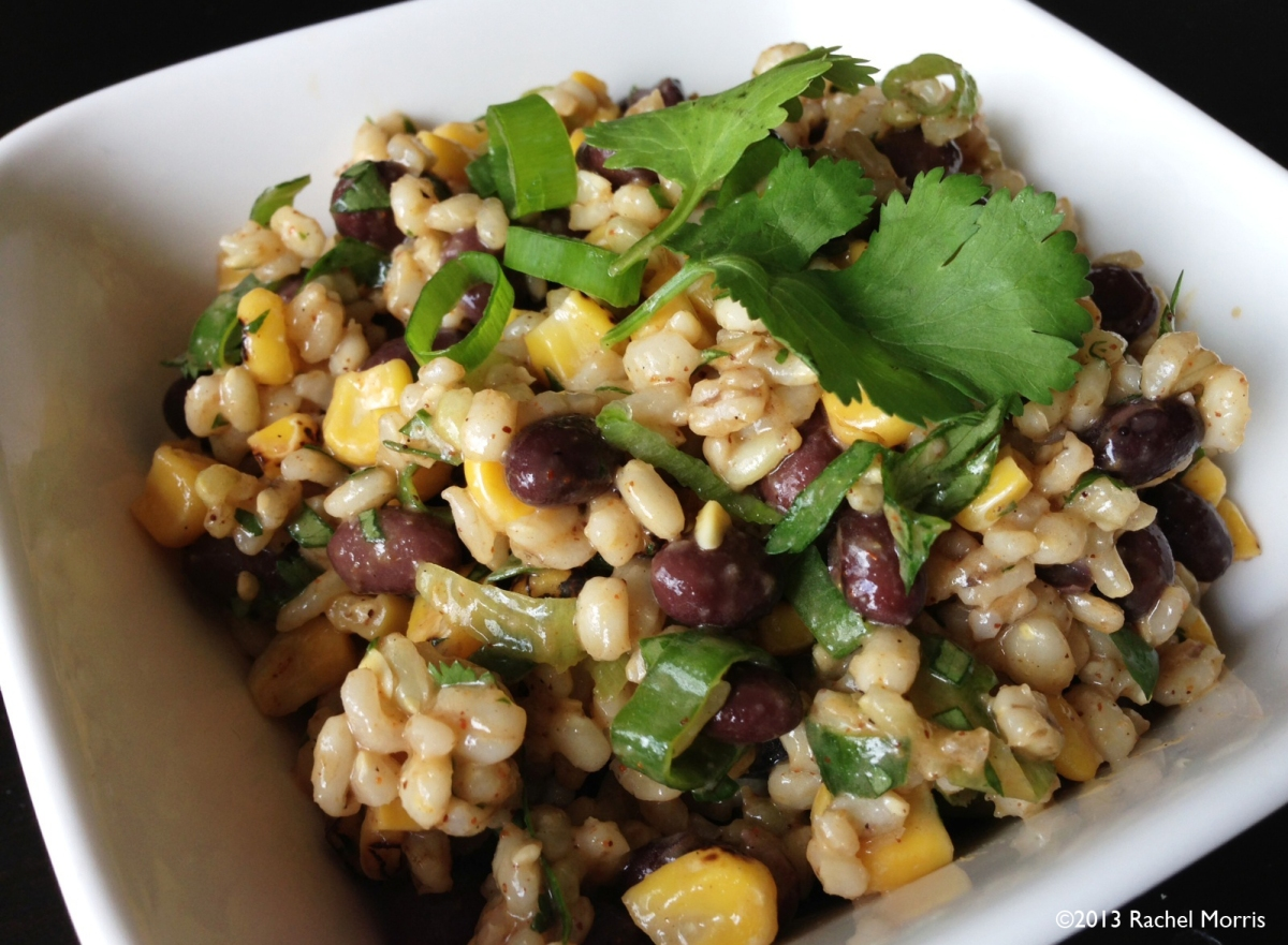 Southwest Black Bean, Corn, and Rice Salad