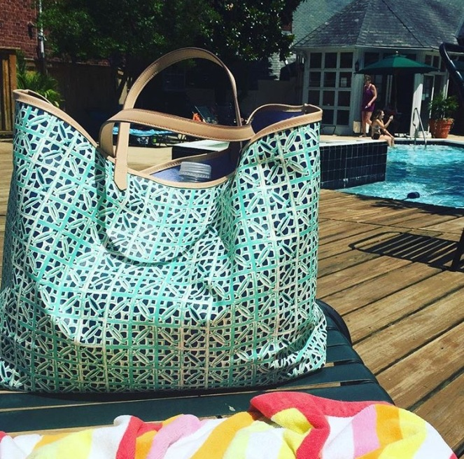 Reversible Beach and Pool Bag – Dished & Dressed